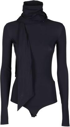 MM6 MAISON MARGIELA Black Bow-embellished Bodysuit