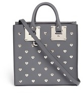 Sophie Hulme 'Albion Square' heart stud leather box tote