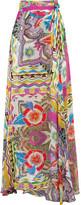 Etro Printed Silk Maxi Skirt - Yellow