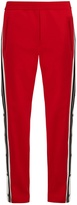 Neil Barrett Striped-seam stretch-cady track pants