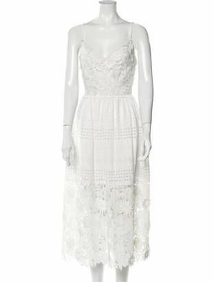 Prabal Gurung V-Neck Long Dress White