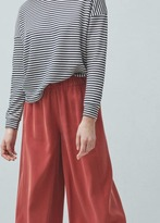 Mango Outlet Flowy palazzo trousers