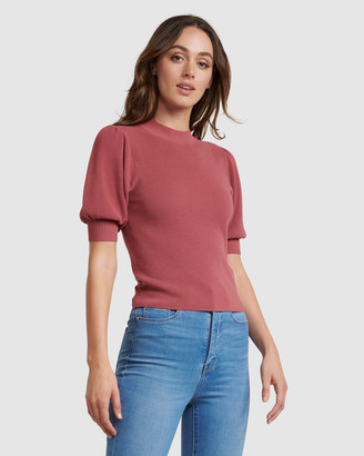 Forever New Alicia Puff Sleeve Knit Tee