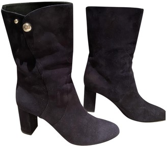 Christian Dior Navy Suede Ankle boots