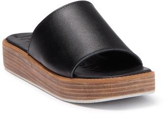 James Smith Stevie Stack Leather Platform Sandal