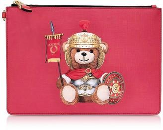 Moschino Teddy Bear Flat Clutch w/Wristlet
