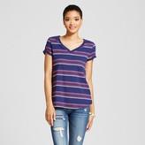 Mossimo Women's Relaxed V-Neck T-Shirt Blue