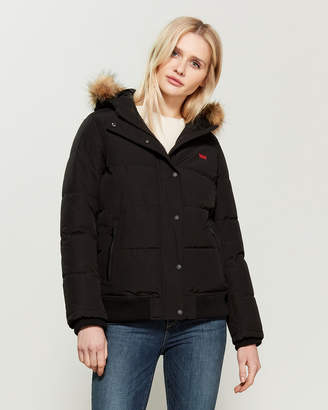 Levi's Faux Fur-Trimmed Quilted Bomber Jacket