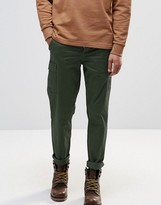 Pull&bear Cargo Chinos In Khaki Slim Fit