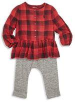 Ralph Lauren Baby's Two-Piece Plaid Peplum Top & Leggings Set