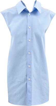 Marni Split-Neck Sleeveless Cotton Poplin Shirt