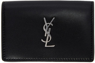 Saint Laurent Black Monogramme Snap Wallet