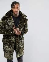 The New County Jacket In Leopard Teddy Faux Fur