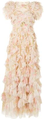 Needle & Thread Genevieve Rose ruffle gown