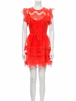 Marissa Webb Crew Neck Mini Dress Orange