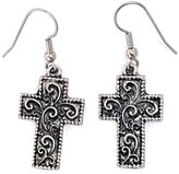 Show Me Country Floral Cross Drop Earrings