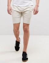 ONLY & SONS Jersey Short With Drawstring Waist With Raw Hem