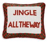 Sudha Pennathur Beaded Velvet Jingle All the Way Decorative Pillow