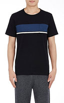 Solid & Striped MEN'S STRIPED-FRONT T-SHIRT-BLACK SIZE S