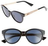 Christian Dior Women's Diorama Mini 52Mm Mirrored Lens Special Fit Sunglasses - Black/ Gold/ Copper