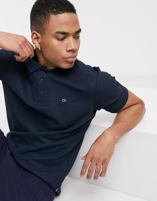 Calvin Klein Golf Midtown radical cotton polo shirt in navy