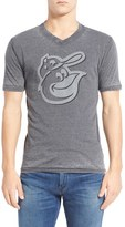 Red Jacket Men's 'Baltimore Orioles - Calumet' Graphic V-Neck T-Shirt