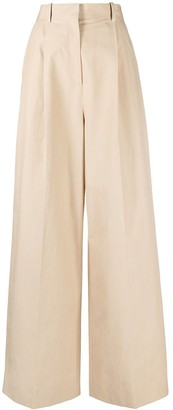 Loewe High-Waisted Wide-Leg Trousers