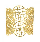 Mela Artisans Filigree in Gold Cuff