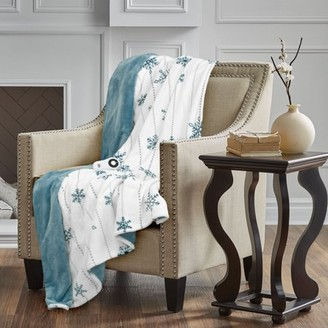Serta Silky Plush Reversible Electric Heated Throw, 5-Setting Heat Control, 4-Hour Automatic Shut-Off Safety Feature