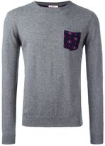 Sun 68 crew neck printed pocket jumper - men - Cotton/Wool - XL