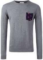 Sun 68 crew neck printed pocket jumper - men - Wool/Cotton - XL
