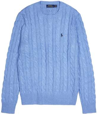 Polo Ralph Lauren Blue cable-knit cotton jumper