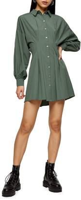 Topshop Textured Mini Shirt Dress