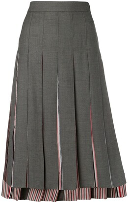 Thom Browne Step-Hem Pleated Skirt