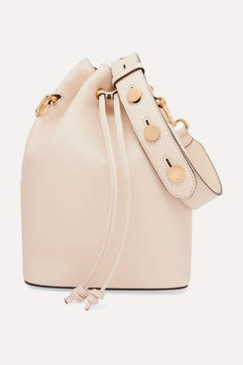 Fendi Mon Tresor Large Leather Bucket Bag - Off-white