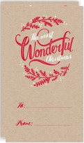 Minted Wonderful Christmas Self-Launch Mini Cards