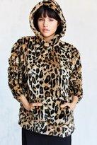 Silence & Noise Silence + Noise Tabby Faux Fur Popover Jacket