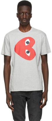 Comme des Garcons Grey Horizontal Heart T-Shirt