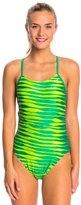 Nike Women's Foil Skin Cut Out Tank One Piece Swimsuit 38419