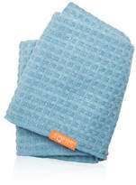 Aquis Waffle Luxe Hair Towel - Dream Boat Blue