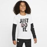 Nike Little Kids' Long-Sleeve T-Shirt Dri-FIT