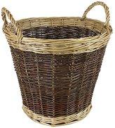 JVL Two Tone Willow Log Basket - 50 x 40 cm