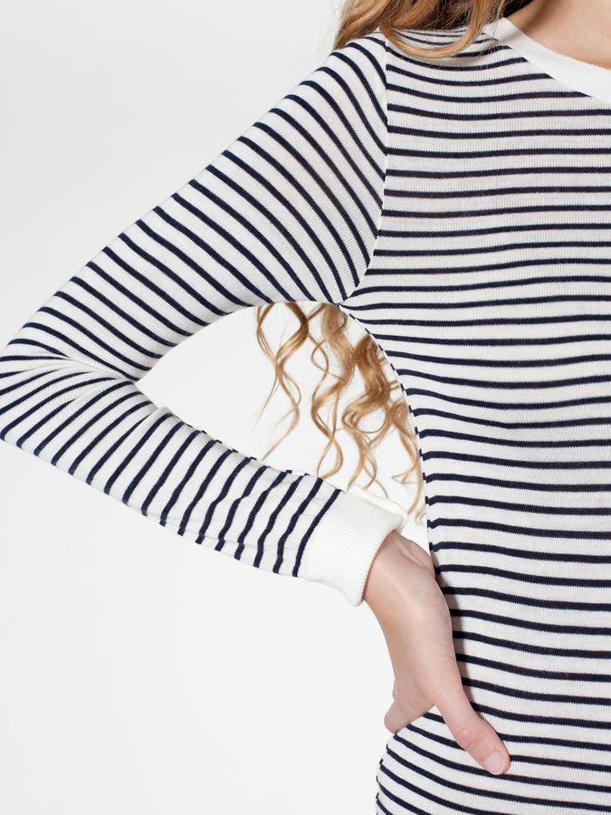 American Apparel Knit Stripe Sweater Crew Neck Dress