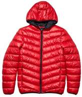 Burton Mens Red Glacier Quilted Hooded Jacket