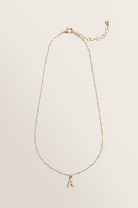 Seed Heritage Initial Pearl Necklace