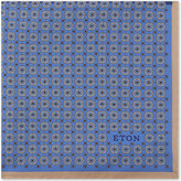 Eton Geometric print silk pocket square