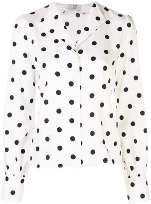 Maryam Nassir Zadeh polka dot blouse