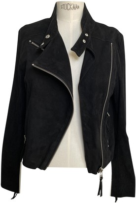 IRO Black Suede Leather jackets