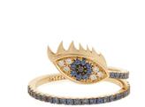 Delfina Delettrez Diamond, sapphire & yellow-gold ring