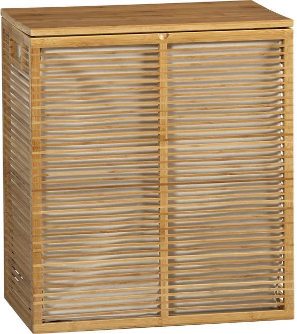 Crate & Barrel Bamboo Hamper with Liner